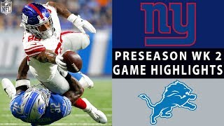 Giants vs. Lions Highlights | NFL 2018 Preseason Week 2 by NFL