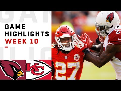 Cardinals vs. Chiefs Week 10 Highlights | NFL 2018