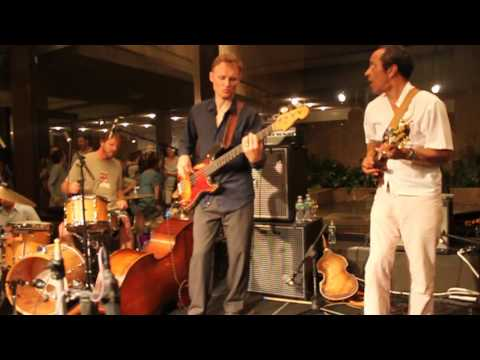 Billy Martin, Chris Wood, Charlie Burnham & Mister Rourke @ Whitney Museum 8-19-11 1/2