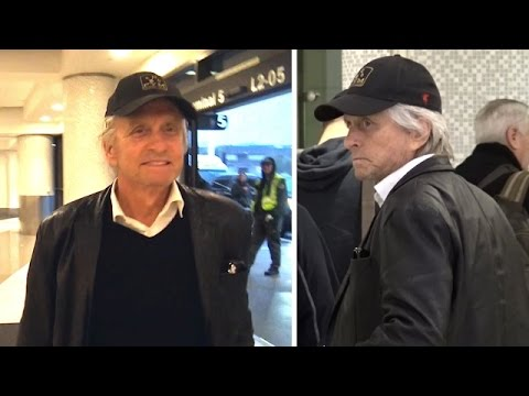 Michael Douglas Flashes A Cheeky Grin When Asked About Trump