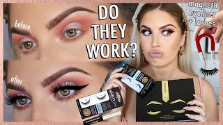 magnetic eyelashes & eyeliner review ⚡ DOES IT WORK? debatable... by Shaaanxo