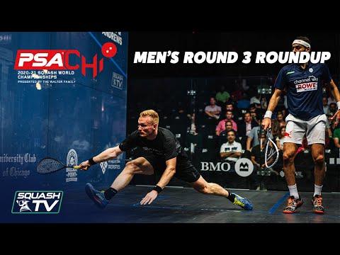 Squash: PSA World Championships 2020-21 - Men's Rd 3 Roundup [Pt.2]