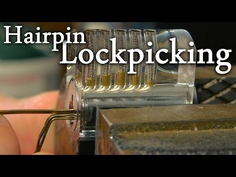 Picking a lock.
