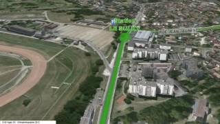 Le Bouscat France  City new picture : Survol nouvelle ligne Tram D Bordeaux Le Bouscat Bruges Eysines