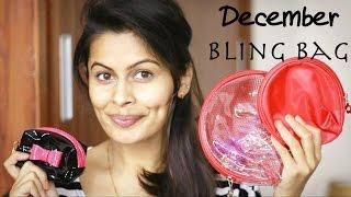 December Bling Bag 2016   Unboxing   Review   Kavya K