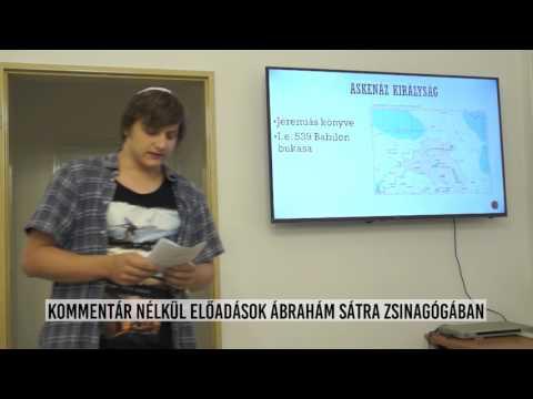 Ismeretterjesztő előadás a hunyadi téri Ábrahám Sátra zsinagógában