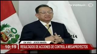 Contralor Edgar Alarcón sobre acciones de control a los Megaproyectos