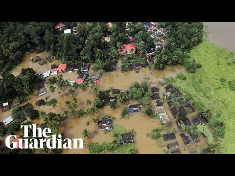 Aerial View Shows Scale Of Monsoon Flooding In Kerala, India