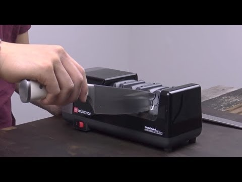 How To Sharpen On Wusthof Electric Knife Sharpener by Chef's Choice