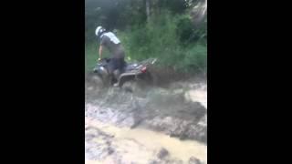 9. DG's ozark 250 goin throught some mud