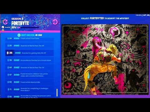 FULL FORTBYTE IMAGE *COMPLETE* Fortnite All Fortbyte Pieces (Fortbyte Secret Puzzle Complete)