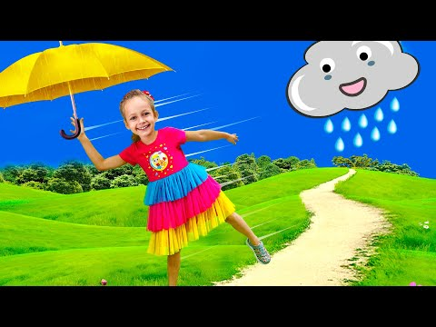 Rain Rain Go Away Song with Maya and Little Baby Doll | Nursery Rhymes