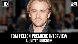 London Film Festival Premiere interviews with A United Kingdom actor Tom Felton, who played Draco Malfoy in the Harry Potter ...