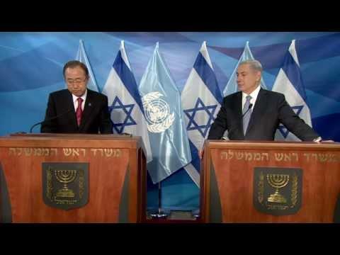Netanyahu - Prime Minister Benjamin Netanyahu's meeting with UN Secretary General Ban Ki-moon. Video: GPO.