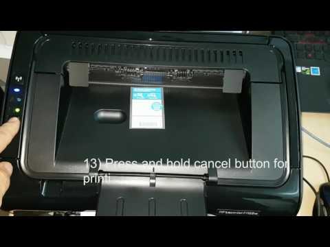 HP LaserJet Pro P1102w Printer(CE658A), How to configure wireless settings