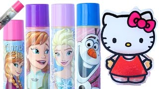 Frozen Elsa Lip Balm DIY hello kitty Lip Gloss How To Make Disney Princess Lip Stick