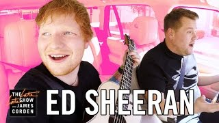 James and Ed Sheeran go for a drive in Los Angeles singing songs off Ed's new album, and James challenges Ed to fit as many ...