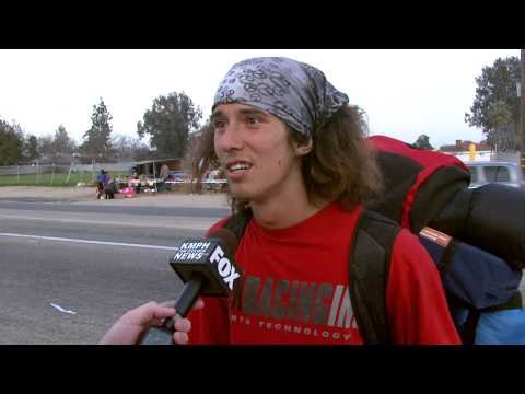 Wielding - This is the ORIGINAL amazing interview with Kai, the hatchet wielding hitchhiker. Conducted by Jessob Reisbeck for KMPH News in Fresno, CA. Link to original ...