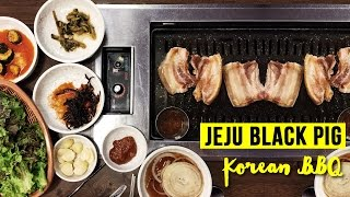 Korean Black Pig BBQ at Jeju Island & Tour of Folk Village