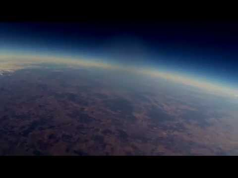 My 16 year old cousin sent a weather balloon 111,000 feet into the atmosphere. It lost connection with his tracker shortly after, and was found 5 weeks later, 57 kilometres away in a paddock. He got some really impressive footage of south-east Queensland, Australia.