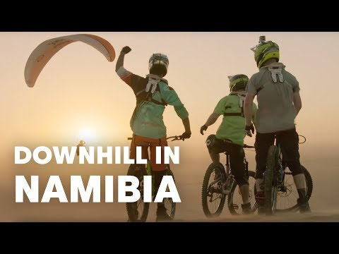 Downhill Mountain Biking in the Wilds of Africa (видео)