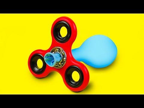7 CRAZY FIDGET SPINNER TRICKS (видео)