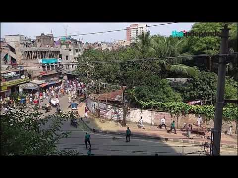 Clash between law enforcers and stranded Pakistanis at Mohammadpur, Dhaka (5 Oct 2019)