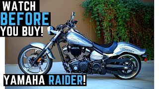 3. Watch BEFORE Buying a Yamaha Raider: 0-100 mph, Ride, Review, Impressions, Walk Around, SkatePark?