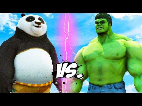 Hulk vs Po - Kung Fu Panda