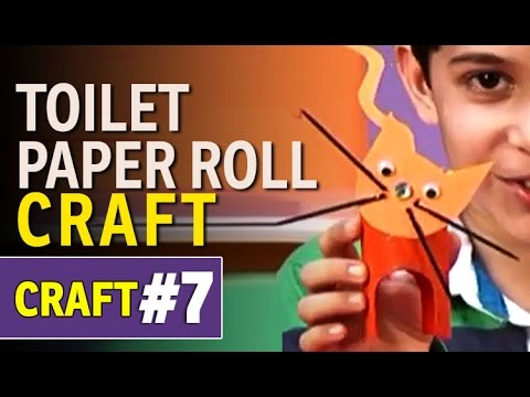 Toilet Paper Roll Craft – Make a Cat | DIY Art and Craft Ideas (Hindi)