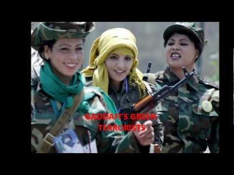 ليبيا أضحك مع طحالب القذافي الأرهابيين الخضر LIBYA