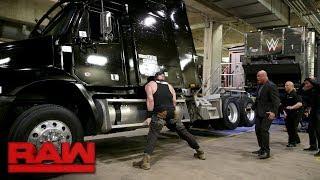 Braun Strowman demolishes a TV production truck: Raw, Jan. 15, 2018