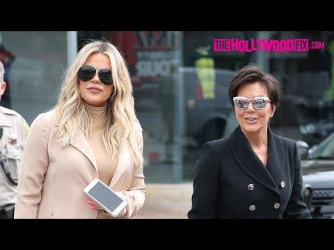 Khloe Kardashian & Kris Jenner Go Shopping For Stormi Webster & Chicago West While Pregnant 3.7.18