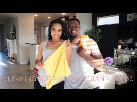 CLEANING MOTIVATION 2018 | MARRIED LIFE CLEANING ROUTINE | LIVING ROOM + KITCHEN | MissBT
