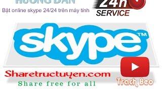Hướng dẫn bật skype online 24 trên máy tính------------------------------------------------------------------Youtube: https://goo.gl/6GyRT0Facebook: https://goo.gl/Iym0nsGoogle +: https://goo.gl/gxU2tWTwitter: https://goo.gl/ktEkADWebsite: https://goo.gl/nRZ3Qo------------------------------------------------------------------Nếu thấy hay hãy like cho mình để mình có thêm động lực mình làm thêm video nhé  và nhớ theo dõi kênh để cập nhật thêm nhiều tiện ích hay nữa nhé. Thanks for watching !P/s: Mời các bạn ghé qua website  http://sharetructuyen.com để thưởng thức những sản phẩm tuyệt vời của sharetructuyen.com------------------------------------------------------------------