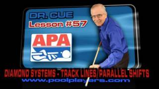 APA Dr. Cue Lesson #57 -- Diamond Systems (Table Terminology -- Track Lines / Parallel Shift)!