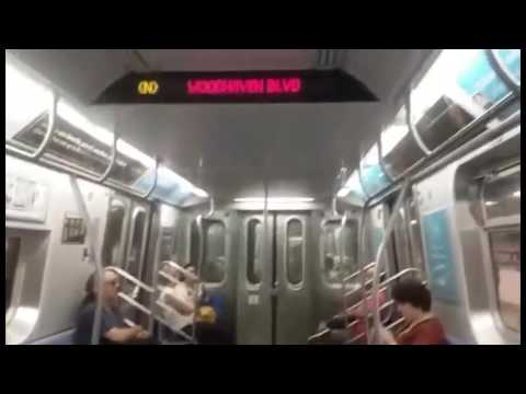 Special: R160 N Train Rerouted via Queens Blvd Local. (видео)