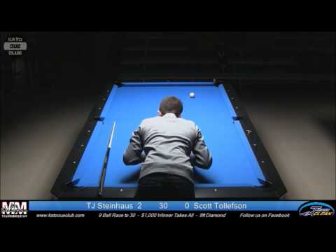 TJ Steinhaus vs Scott Tollefson - 9 Ball - Race to 30 - 9ft Diamond Pro Am