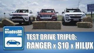 Dessa vez, o UsadosBR trouxe para você um comparativo da pesada. Confira agora os pontos positivos e negativso das versões topo de linha da Ford Ranger, Chevrolet S10 e Toyota Hilux!!INSCREVA-SE: http://goo.gl/vFsqOYREALIZAÇÃO:UsadosBRPRODUÇÃO E APRESENTAÇÃO:Layane PalharesIMAGENS, EDIÇÃO E FINALIZAÇÃO:Vanessa GoveiaSITE:www.usadosbr.comREDES SOCIAIS:Facebook: http://www.facebook.com/usadosbrTwitter: http://www.twitter.com/usadosbrInstagram: http://www.instagram.com/usadosbr
