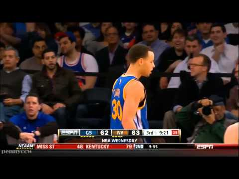 three pointer - Stephen Curry rose for another jumper, and by then even the Knicks probably figured it would go in. Curry had hardly missed in a scintillating second half of...