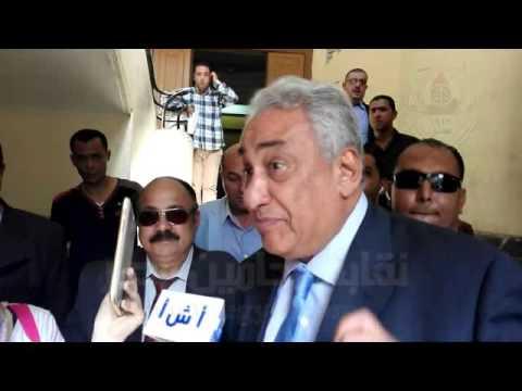 حوار عاشور مع وكالة انباء الشرق الاوسط عقب ترشحه لمنصب النقيب