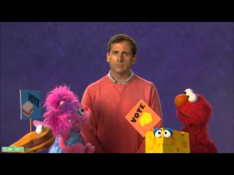 voting - Steve Carrell, Abby, and Elmo vote on a snack. For more fun games and videos for your preschooler in a safe, child-friendly environment, visit us at http://w...