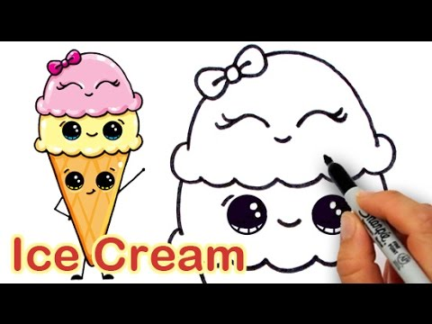 Video How to Draw Cartoon Ice Cream on a Cone Cute and Easy download in MP3, 3GP, MP4, WEBM, AVI, FLV January 2017