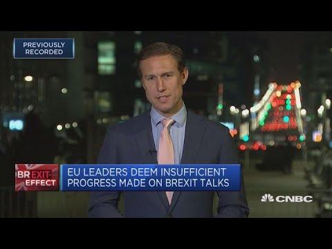 EU leaders deem insufficient progress made on Brexit talks | Squawk Box Europe