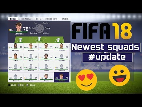 FIFA 18 Newest Squads Update #7-7-2018