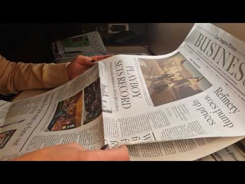 ASMR-LA Times Sleepy Sunday paper time! - Silent- no speaking