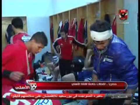 بالفيديو.. قتلى ومصابون بغرف خلع ملابس الأهلي ببورسعيد