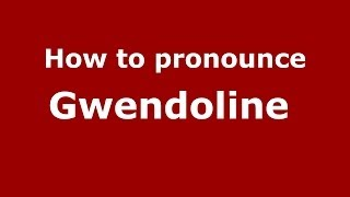 Audio and video pronunciation of Gwendoline brought to you by Pronounce Names (http://www.PronounceNames.com), a website dedicated to helping people pronounc...