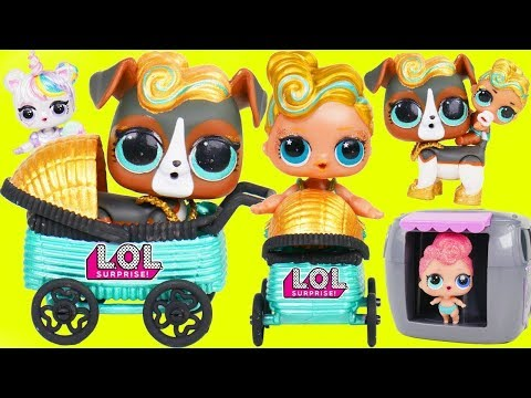 LOL Surprise! Dolls Lil Luxe + Big Sisters with Fake vs Real LQL Series 3 DIY Custom Blind Bags!