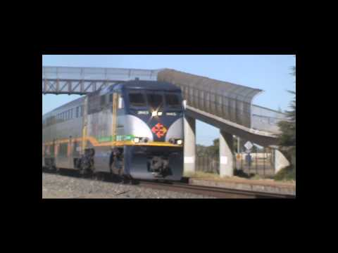 Amtrak Capital Corridor Trains at the Suisun-Fairfield Station (9/4/10)